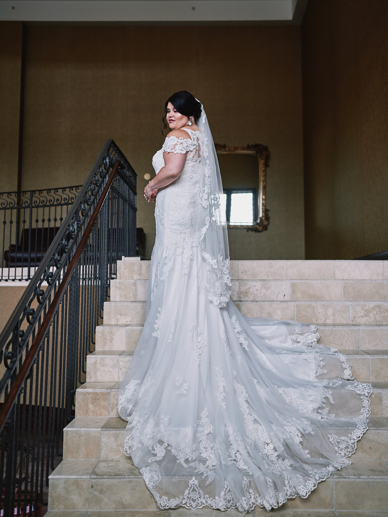 Diamond Mills Hotel wedding portrait