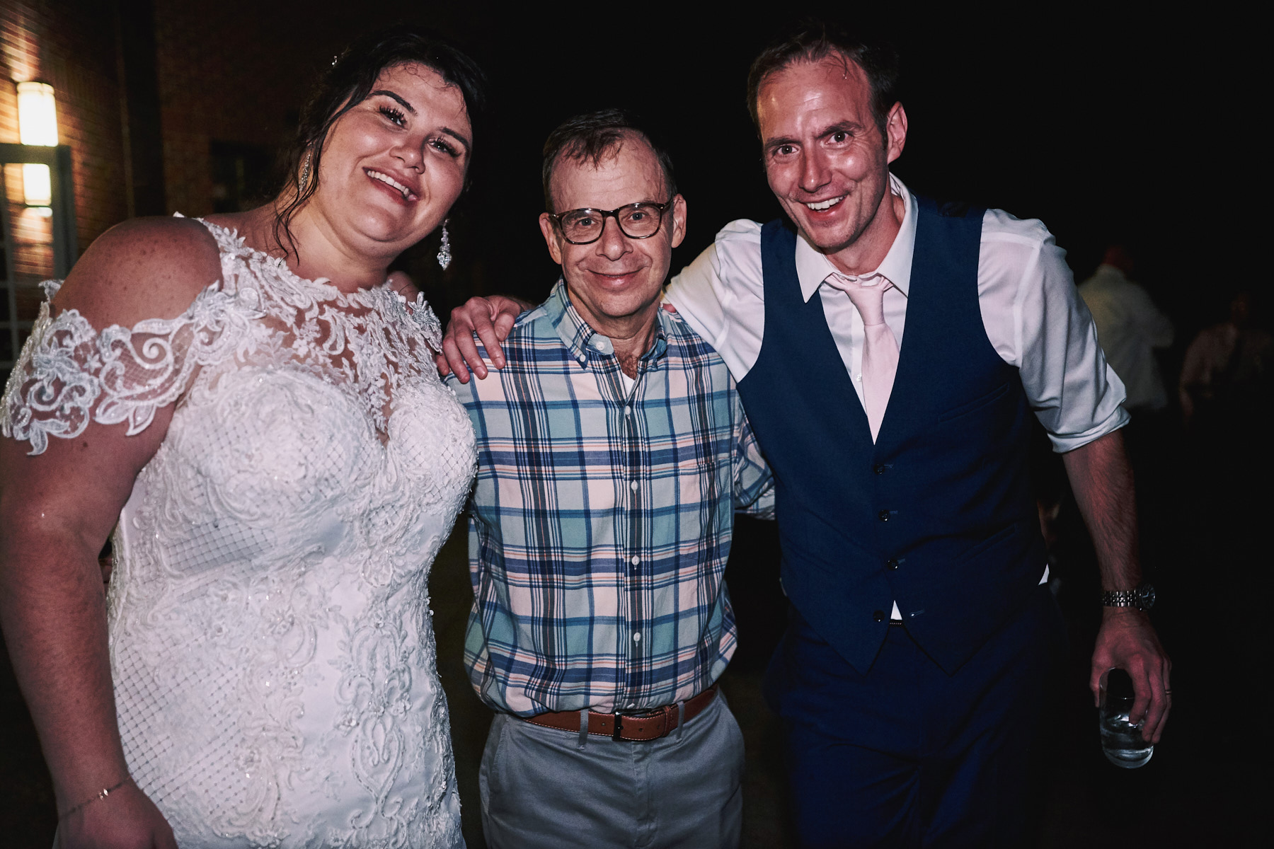 Rick Moranis at a wedding