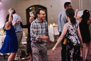 Rick Moranis at a wedding
