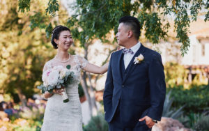 Quail Ranch wedding first look