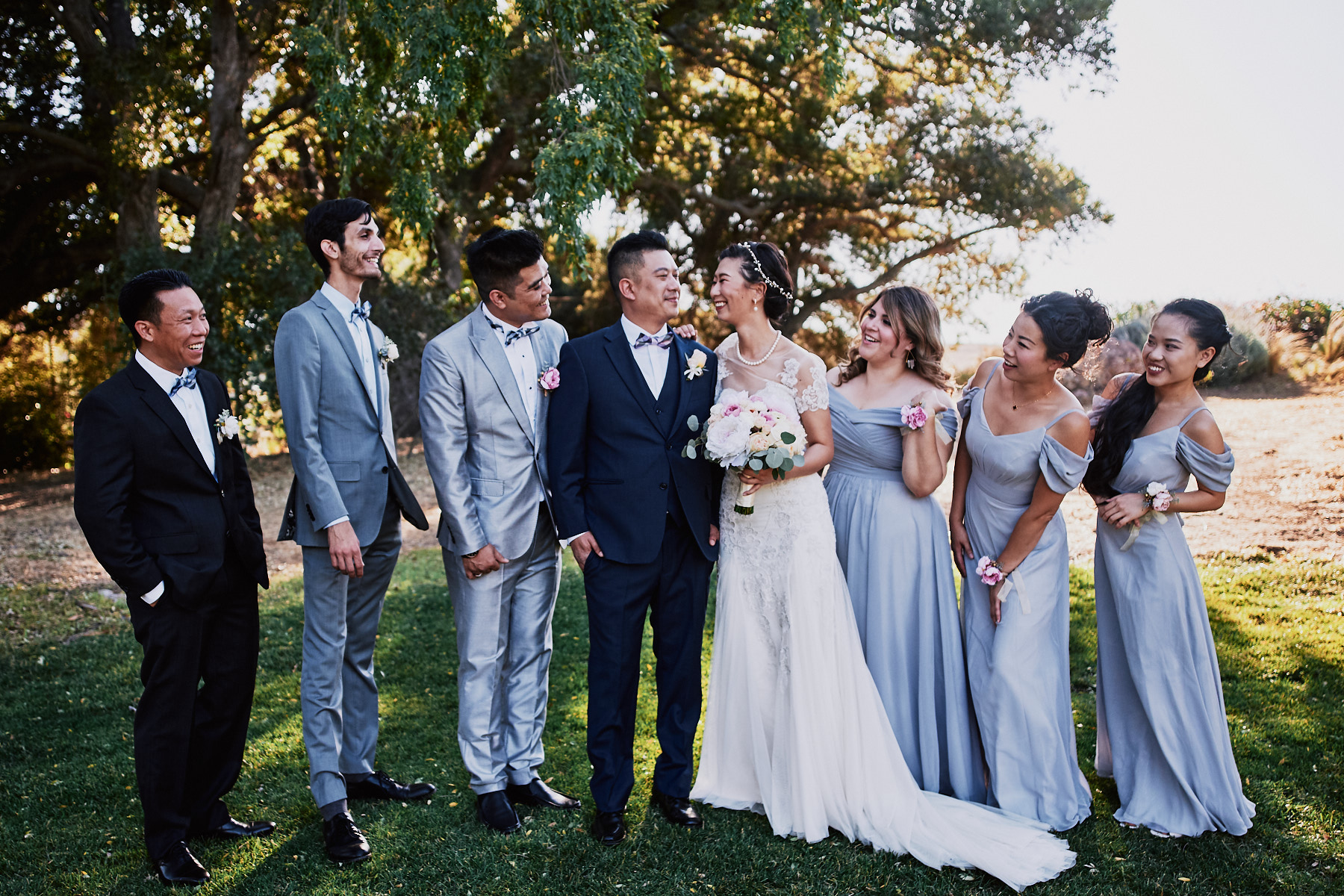 Quail Ranch wedding party portrait
