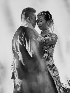 Quail Ranch black and white wedding portrait