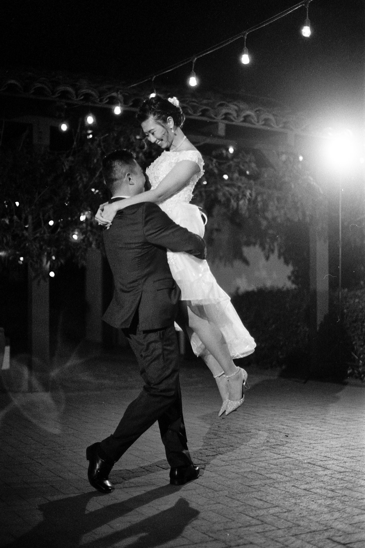 Quail Ranch black and white first dance Ilford HP5 Nikon FE2
