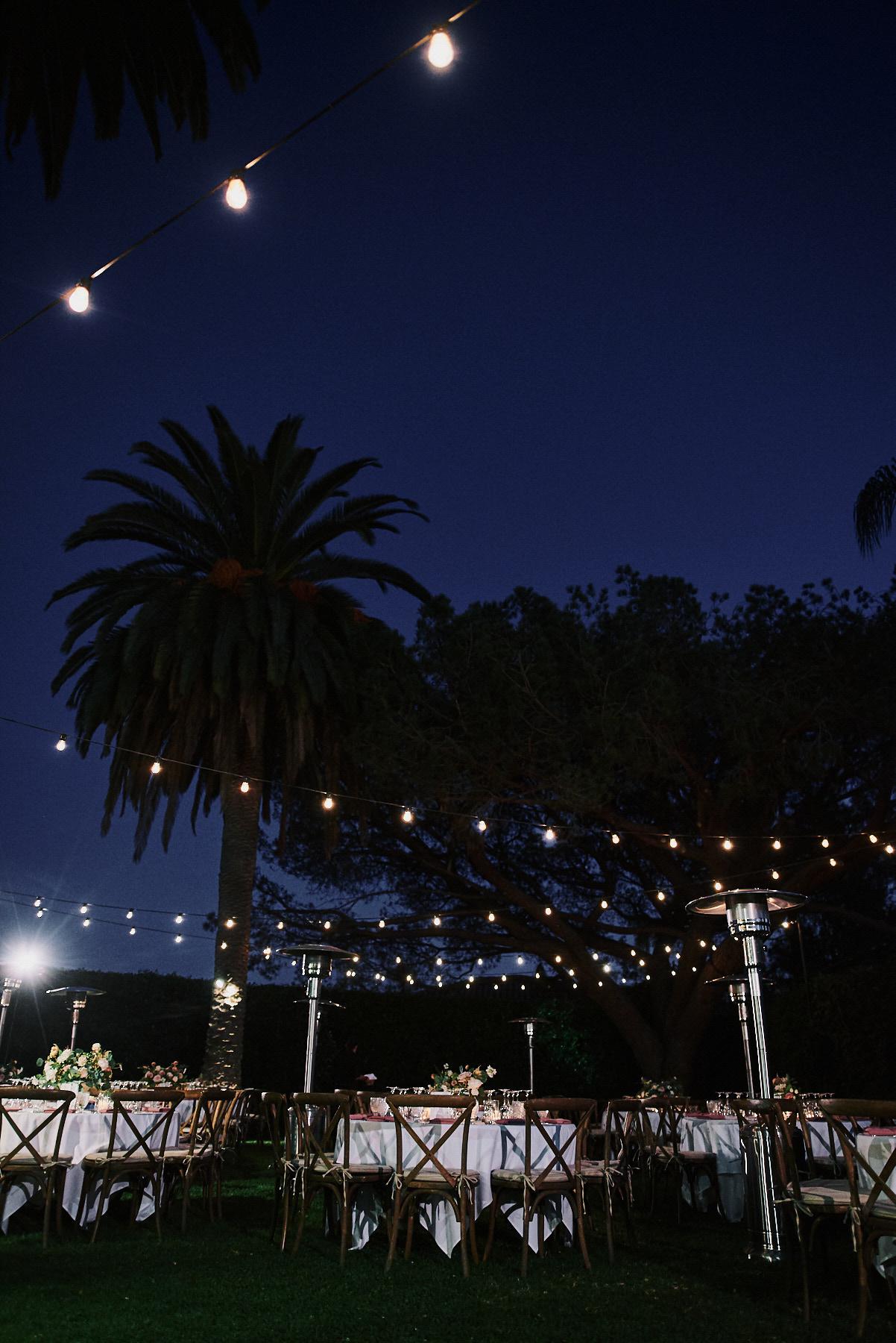 Riviera Mansion wedding night reception